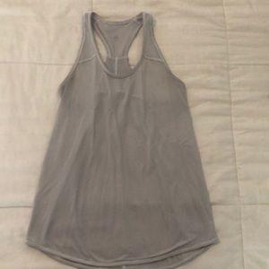 Lululemon white/grey tank with pleated back